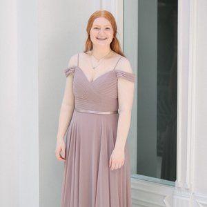 Mauve Chiffon Bridesmaid Dress
